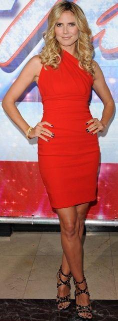 Heidi Klum's Little Red Dress