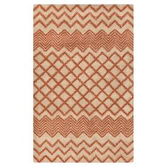 Anchor your living room or den seating group in eye-catching style with this hand-tufted wool rug, showcasing a trellis motif with chevron accents for stylis...