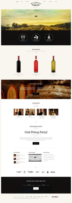 Wine House is designed towards wine clubs, fineries, wine farms and wine stores, both physical and online ones shops. It also can be a review website or a magazine.