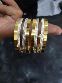 Bridal Bangles, Gold Bangles, Wedding Jewelry, Bangle Bracelets, Opal Jewelry, Indian Jewelry, Gold Jewelry, Jewelery, Cartier Love Bracelet