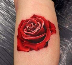 The Rose 3Dtattoo: For those who believe in immense love, can have this tattoo made. The rose tattoo is preferably made on the back of the shoulders and looks cherubic on women with clean and beautiful shoulders