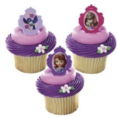 Party Supplies | Sofia the First Cupcake Rings (12) | Party Twinkle