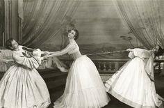 shakespeare - Much Ado About Nothing - RSC 1961 Ursula (Rachel Kempson), Hero (Geraldine McEwan), Margaret (Zoe Caldwell).