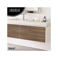 #ViniloDecorativo para #wrapping Madera 07 usado en un lavabo / #DecorativeVinyl for #wrapping Wood 07 used in a washbasin