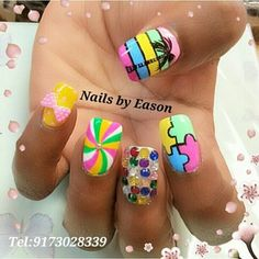 Brightly colored nail variety