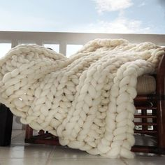Large Knit Throw Blanket