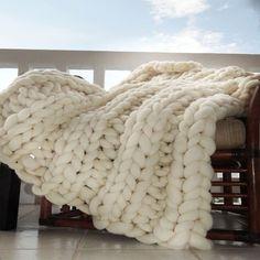 Large Knit Throw Blanket