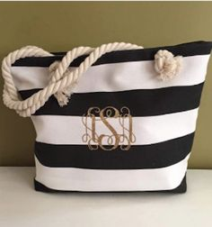 nautical beach tote