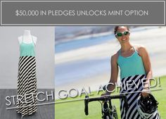 You help us hit the goal, so we can help you hit the goal! Your PR is about to improve with The Undress! Change quickly into cycle gear, your swim suit, your running clothes , yoga pants - you name it!  Find us on kickstarter! Our next stretch goal is to unloack the gray Undress!