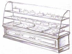 cake & chocolate serving bar Cafe Shop, Cake Chocolate, Decorative Boxes, Bar, Home Decor, Coffee Shops, Chicolate Cake, Coffee Store, Chocolate Cobbler