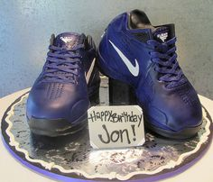 blue nike shoes...rosebudcakes