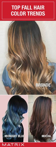 There are so many color choices for your fall hair color. Feeling confused? Visit www.matrix.com to learn more about Fall Hair Color Trends!