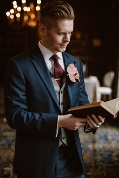 What to Look for in a Winter Groom's Suit - Chic Vintage Brides : Chic Vintage Brides