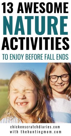 Fall fun ideas for kids: enjoy these outdoor nature activities before winter sets in! Nature Activities, Outdoor Activities For Kids, Autumn Activities, Family Activities, Gentle Parenting, Kids And Parenting, Parenting Ideas, Raising Girls, Christian Parenting