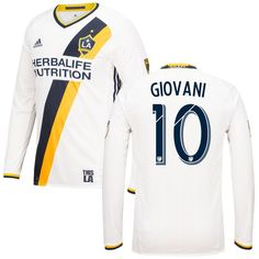 Giovani dos Santos LA Galaxy adidas 2016/17 Authentic Primary Long Sleeve Jersey - White https://twitter.com/ShoesEgminfmn/status/895096133382356992