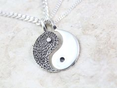 Matched crossed reached trilogy artifact ally condie inspired silver yin yang necklace couple necklace sterling silver yin fandeluxe Gallery