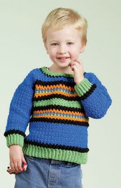 pullover sweaters for boys free patterns | Easy Pullover Sweater Free Crochet Pattern | FaveCrafts.com