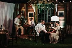 Jazz Club Reception Set Up | Love Song Serenade – Southern Sweetness Wedding Inspiration with 1920′s Style