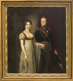 Marriage Portrait of William II of the Netherlands and Anna Pavlovna as a royal couple, 1816. Artist: Jan Willem Pieneman