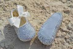 Bling baby shoes by BeautifulRadiance on Etsy, $100.00