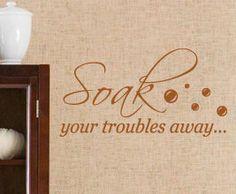Vinyl Wall Art Decal Lettering Decor Bathroom Sticker Quote Inspirational BA15. $27.97, via Etsy.