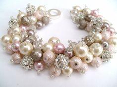 Bridesmaid Jewelry Bridesmaid Bracelet Vintage Theme by KIMMSMITH, $24.00