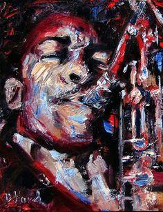 Debra Hurd Original Paintings AND Jazz Art-John Coltrane