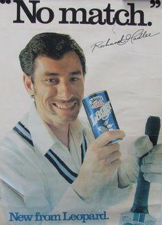 1980s Leopard Lager Beer Richard Hadlee Poster - New Zealand    Cool poster of Cricket legend Sir Richard Hadlee <3