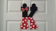 Custom Order 13 Large Decorative Letter Wall Art: Mickey and Minnie Mouse, Personalized & Ready to Hang.    Each letter is $20, if you want