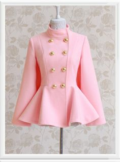 Morpheus Boutique  - Pink Double Breasted Trench Wool Designer Coat, $149.99 (http://www.morpheusboutique.com/pink-double-breasted-trench-wool-designer-coat/)
