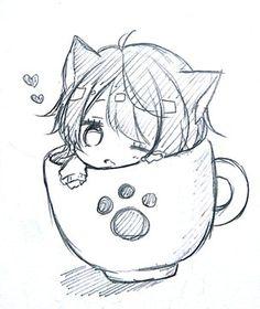 Cats and kittens chibi cute cat, cute cats breeds, cute cat anime, cute cat makeup for halloween, Dibujos Anime Chibi, Cute Anime Chibi, Kawaii Chibi, Anime Neko, Anime Kawaii, Kawaii Art, Anime Kiss, Kawaii Neko Girl, Cute Neko Girl