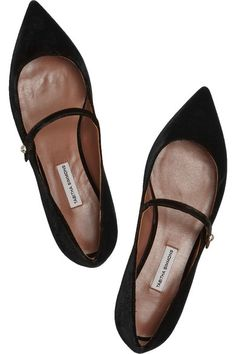 Heel measures approximately 15mm/ 0.5 inches Black velvet Button-fastening front strap