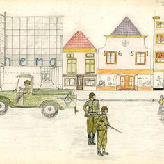 The war - set of drawings by children shortly after the war.