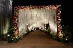 44 Ideas wedding ceremony arch garden for 2019 Wedding Ceremony Ideas, Wedding Gate, Wedding Hall Decorations, Wedding Reception Backdrop, Marriage Decoration, Reception Entrance, Wedding Entrance, Entrance Decor, Garden Wedding