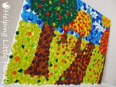 Melted Crayon Art and Pointillism (an art method where you draw by making dots - great tutorial using melted crayons).