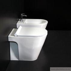 Zero 55 Floor Mount Toilet With Slim Seat - Zero - Toilets & Bidets - Bathroom Toilets, Contemporary Design, Slim, Cleaning, Flooring, Bathrooms, Products, Bathroom, Full Bath