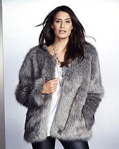 22a6f7ccc Simply Be Tipped Faux Fur Jacket | Fashion World Faux Fur Jacket, Fur Coat,