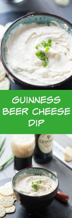 This Guinness beer cheese dip has a subtle stout flavor that glances the sharp white cheddar. This appetizer dip is creamy and smooth and altogether delicious! via @Lemonsforlulu