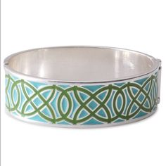 Stella & Dot turquoise Eleanor enamel bracelet Worn only a couple of times. Great condition! Hinge closure. Fits small to medium size wrists. Great to stack with other bracelets! This will not come with a S&D box because I am completely out of them!! Stella & Dot Jewelry Bracelets
