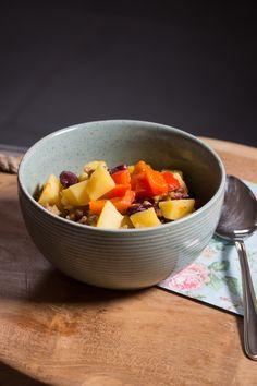 Rezept für leckeres Kartoffelgulasch mit Chili, Chili mit ganz viel Kartoffeln für kalte Tage, Rezept für kalte Tage