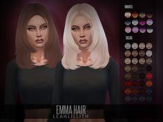 The Sims 4 najlepsze mody do gry: LeahLillith Emma fryzura Sims 4 Cas, My Sims, Teen Hairstyles, Female Hairstyles, Pelo Sims, The Sims 4 Cabelos, Sims 4 Cc Packs, Sims 4 Gameplay, Sims Four