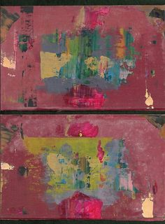 palimpsestbymarkie:  Mould #1 and #2 - acrylic on found book covers
