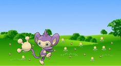 field of sunflora and sunkurn photobomb by aipom