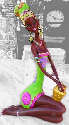 This Pin was discovered by Mal African Art Paintings, African Artwork, African American Art, African Women, Black Women Art, Black Art, African Colors, Black Magic Woman, Art Africain