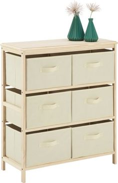 Attraktive Kommode mit 6 Körben - ein ansprechender Blickfang Modern, Dresser, Furniture, Home Decor, Beauty, Closet Storage, Shelf, Homes, Goodies