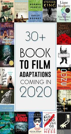 Books to Film 2020 – 40 Movies Based on Books Coming in 2020 Books to Movies & TV in 30 Upcoming Adaptations – The Bibliofile Best Books To Read, I Love Books, Great Books, New Books, Good Books To Read, Book Club Books, Book Lists, The Book, Reading Lists