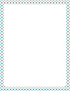 blue and brown polka dot border page borders clipart blue and ideas ...