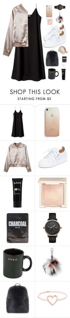 """""""precious"""" by ishipbullshit ❤ liked on Polyvore featuring Rebecca Minkoff, WithChic, Giuseppe Zanotti, NYX, Jouer, Skagen, HUF, Aéropostale, Brunello Cucinelli and Love Is"""