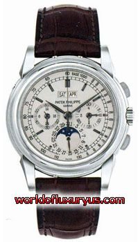 PATEK PHILIPPE - GRAND COMPLICATION CHRONOGRAPH PERPETUAL CALENDAR - 5970G-001 (18K WHITE GOLD / WHITE DIAL / LEATHER)