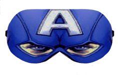 Captain America Hero Sleep Eye Mask Masks Sleeping Eye Cover Sleep Mask Night Blindfold Travel Kit cover patch wear pillow Slumber Eyewear by venderstore on Etsy